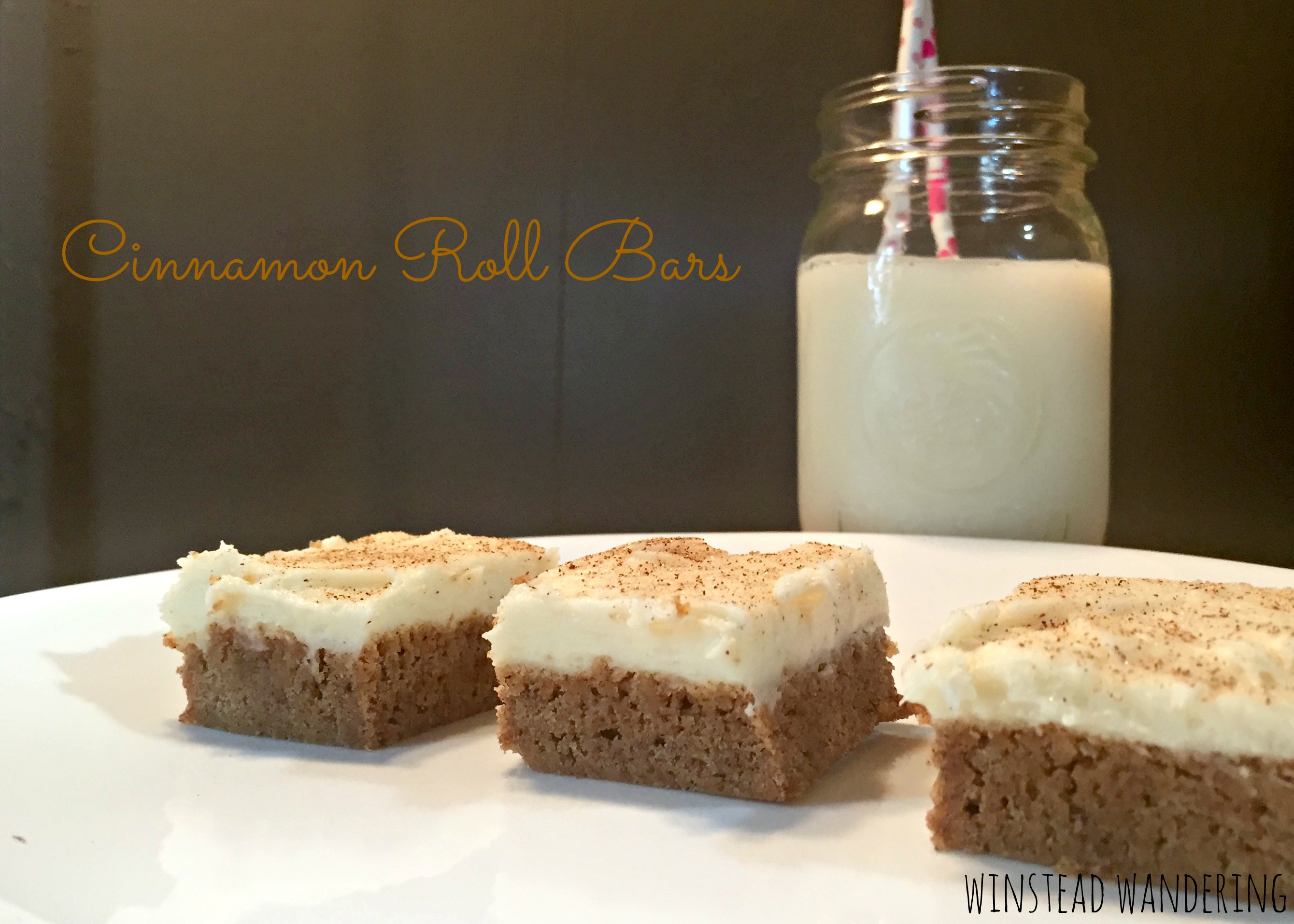 cinnamon roll bars: an easy, delicious take on a time-consuming classic | winstead wandering