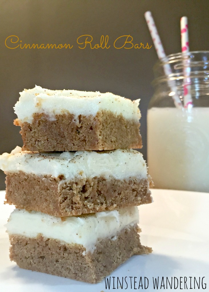 the delicious richness of a cinnamon roll loaded with cream cheese frosting is combined with the ease of a box cake mix. the result is a must-try | winstead wandering