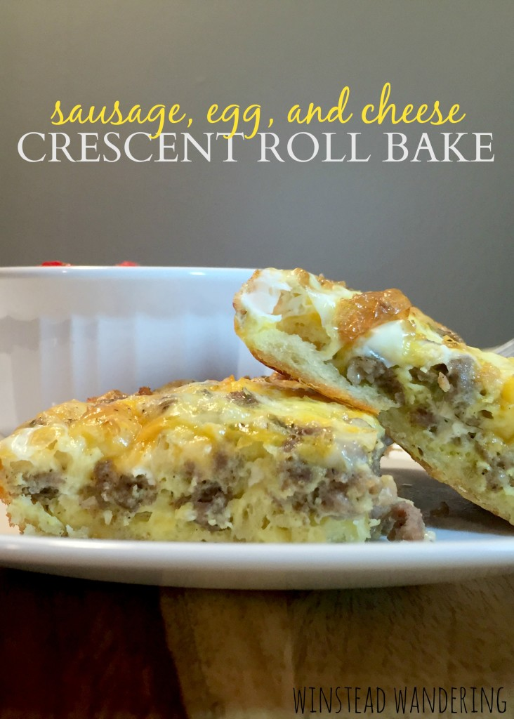 sausage, eggs, and cheese get all cozy together on a bed of crescent rolls. the result is everything you could want in a breakfast casserole (no soggy bread here!) | winstead wandering