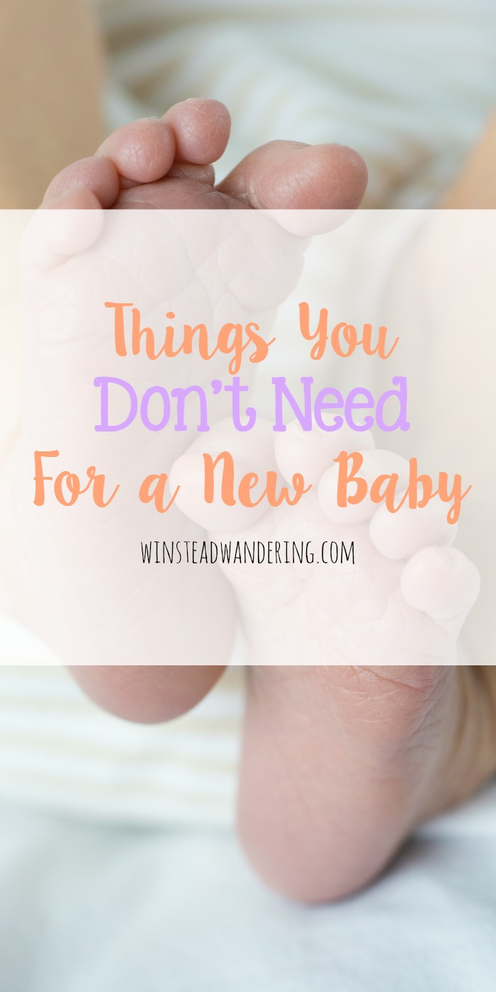 With all the information out there insisting parents need so much stuff, here's a list of things you don't need for a new baby.
