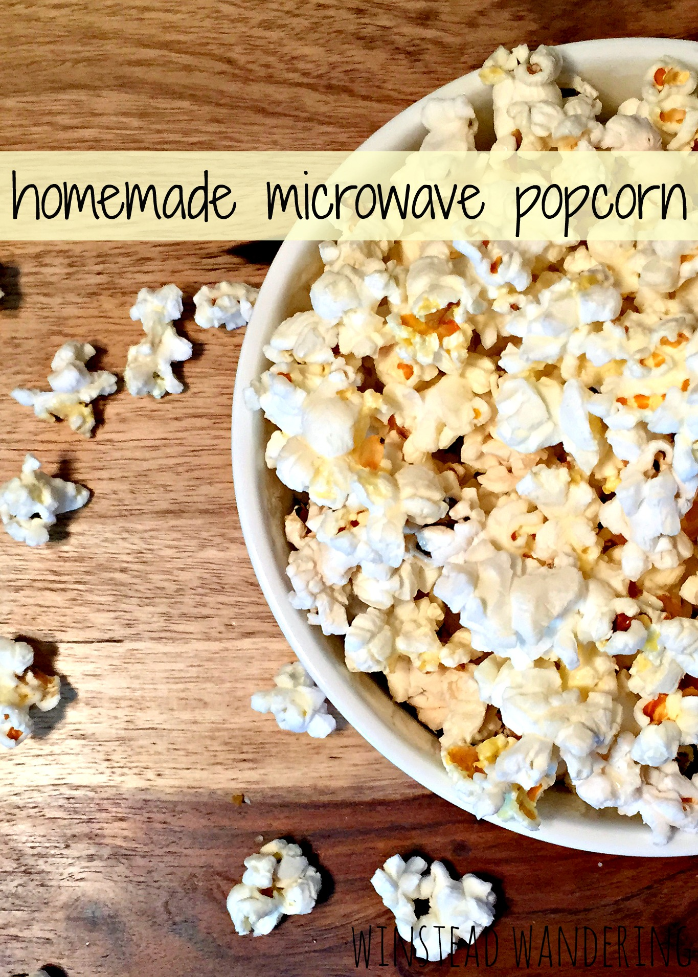 who knew you could make popcorn in your microwave without all of the nasty chemicals of the store-bought bags? It's easy and you can add any flavors you want | winstead wandering