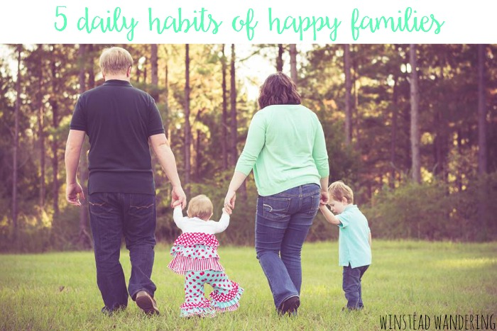 Creating a happy family in today's fast-paced world takes thought and intention. Here are five tips to help make it happen.