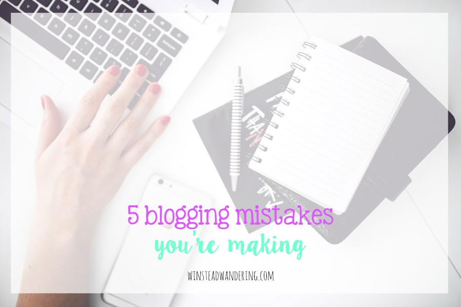 Are you making one of these five blogging mistakes? They're actions that can drive viewers from your blog, but they're all easily corrected.