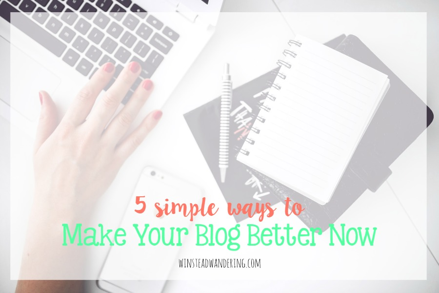 Here's a list of five simple, actionable ways to help your blog. They're all easy, take just a few minutes or less, and will improve your site.