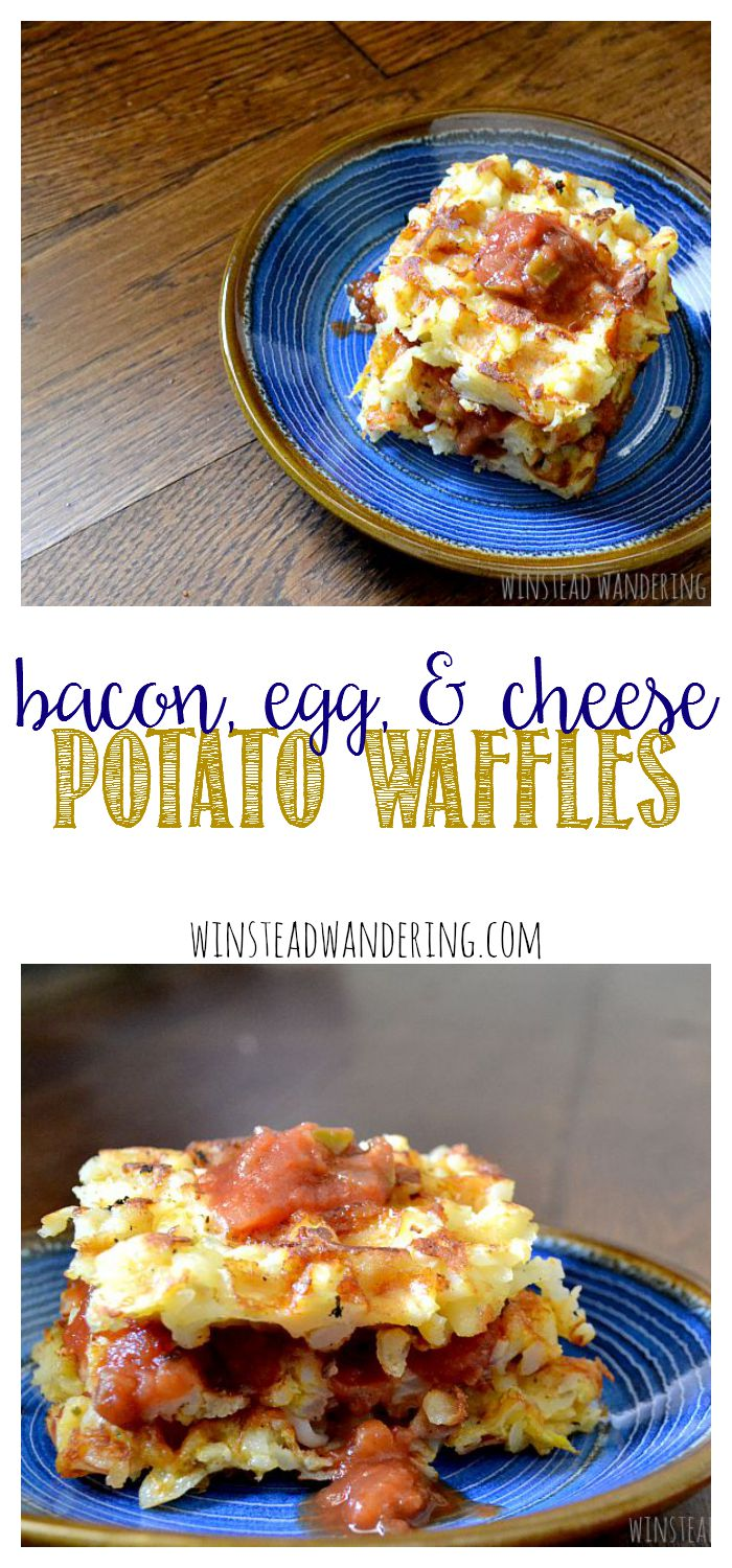 Bacon, egg, and cheese potato waffles are all your favorite breakfast flavor notes, packed into crunchy waffles that are perfect for any meal of the day.