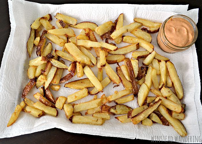 With this crazy method, easy homemade French fries are made by placing sliced potatoes in cold oil. They cook as the oil heats up, giving you fries with tender centers and crunchy exteriors.