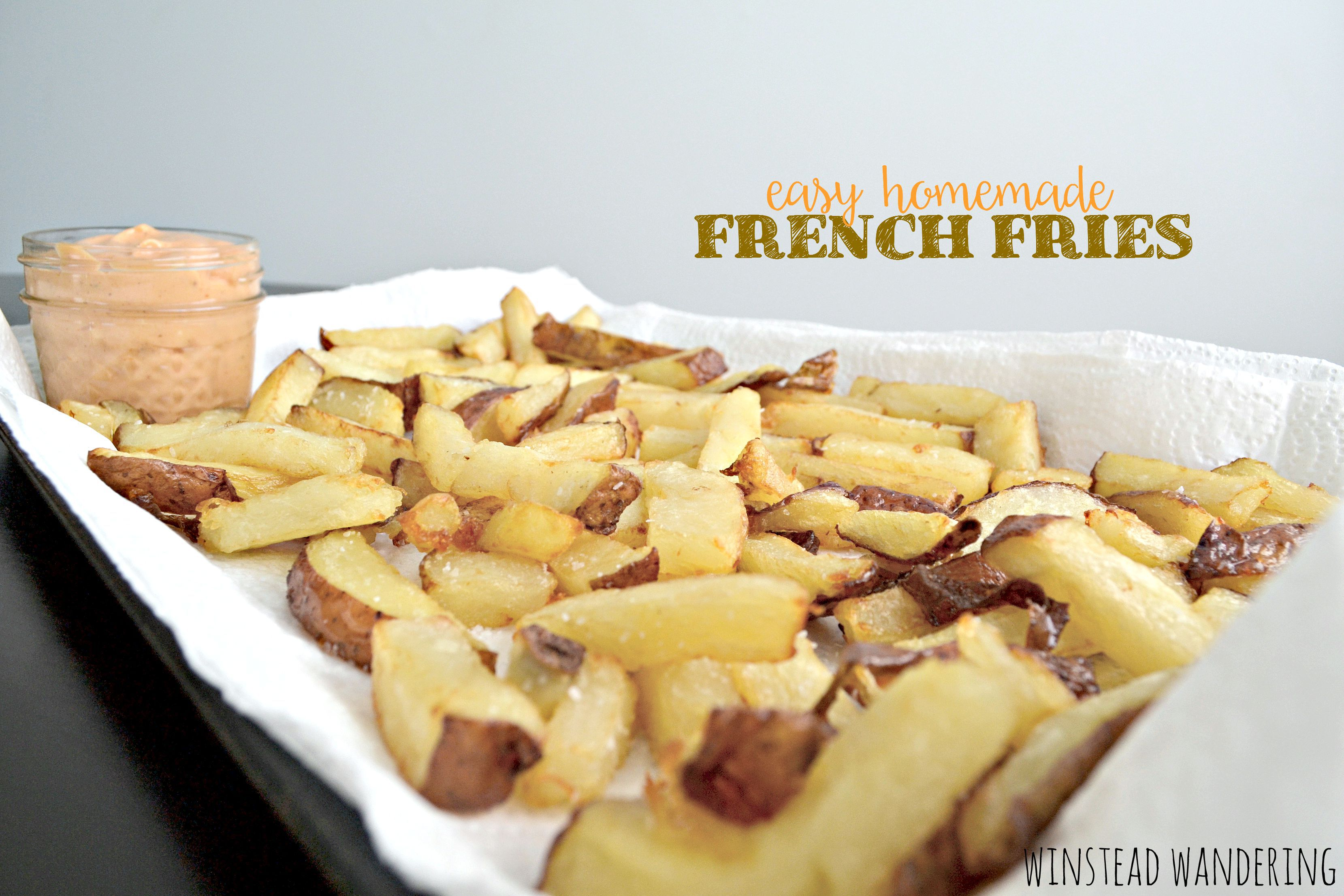 With this crazy method, easy homemade French fries are made by placing ...