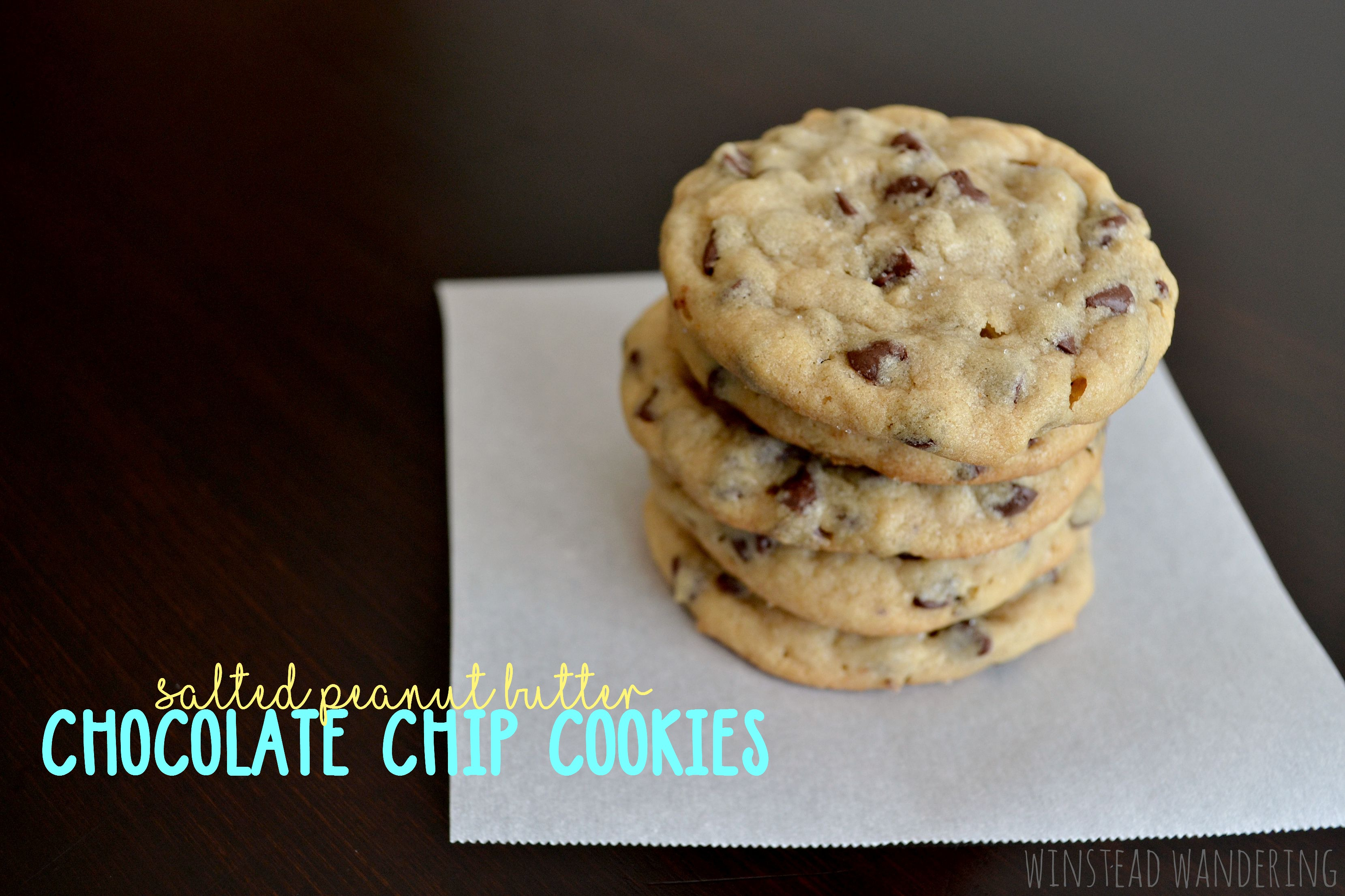 Salted peanut butter chocolate chip cookies are swirled with creamy PB and stuffed with plenty of mini chocolate chips. Like regular cookies, but way better