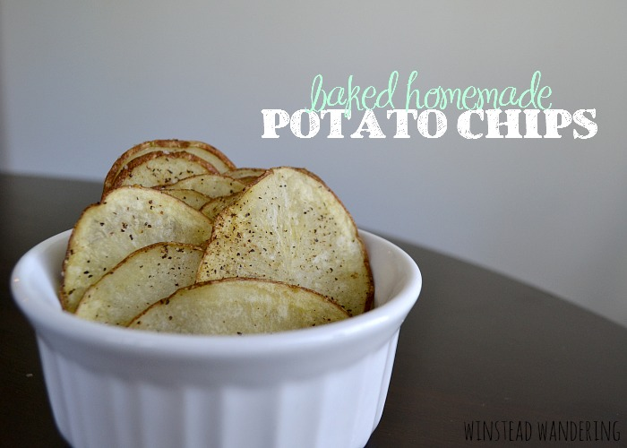 Thinly-sliced potatoes, seasoned however you'd like, are baked until tender and crispy. It doesn't get much easier than these homemade baked potato chips.