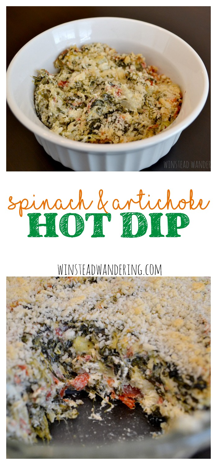 This is not your average dip. Served warm and beefed up with artichoke hearts, garlic, and the beautiful saltiness of Parmesan cheese, this spinach and artichoke hot dip is hearty enough to be a meal. That's a good thing, because you won't want to stop eating it.