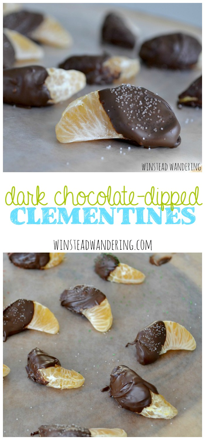 Looking for the perfect healthy snack for yourself, or a fun treat alternative to sugary goodies? Look no further than dark chocolate-dipped clementines.