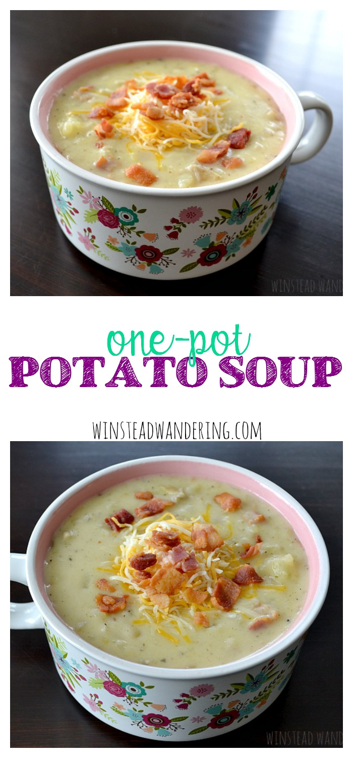All the classic flavors of a potato-lover's potato soup, with an easy-to-follow recipe that uses only one pot.