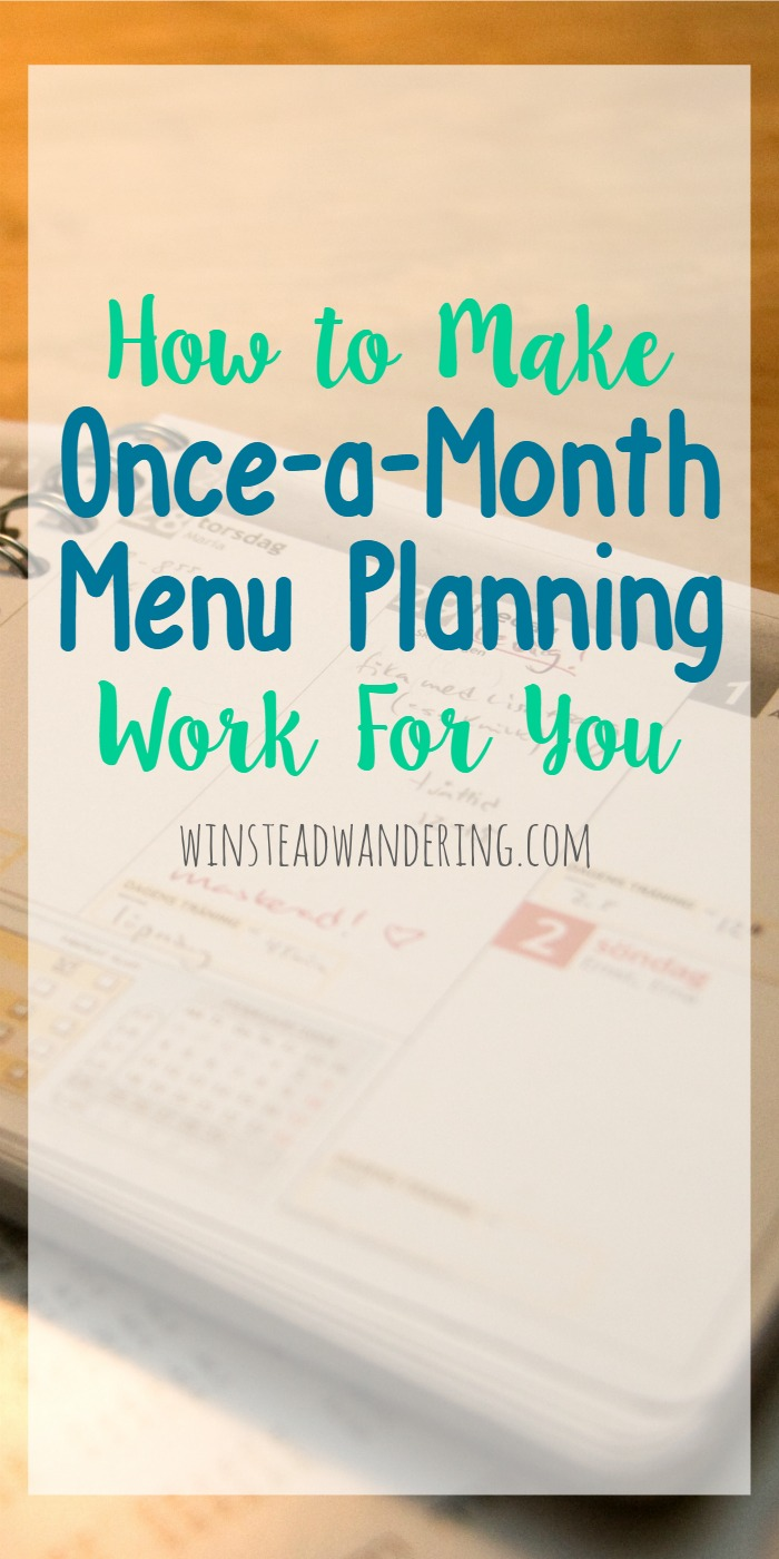 Menu planning isn't rocket science, and it doesn't have to feel like torture, either. Here are step-by-step instructions, plus super helpful tips and tricks, to make once-a-month menu planning work for you.