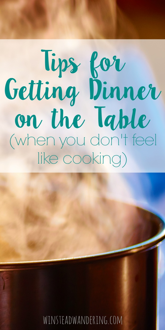 Let's be real. Sometimes, despite your best intentions, evening rolls around and you just can't imagine how you're going to feed your family. Don't worry, I've got you covered with these tips for getting dinner on the table (when you don't feel like cooking).