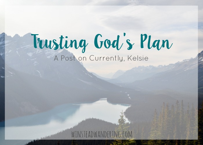 Trusting God's plan, even when you don't understand it, is one the hardest things we can do as followers of Christ.