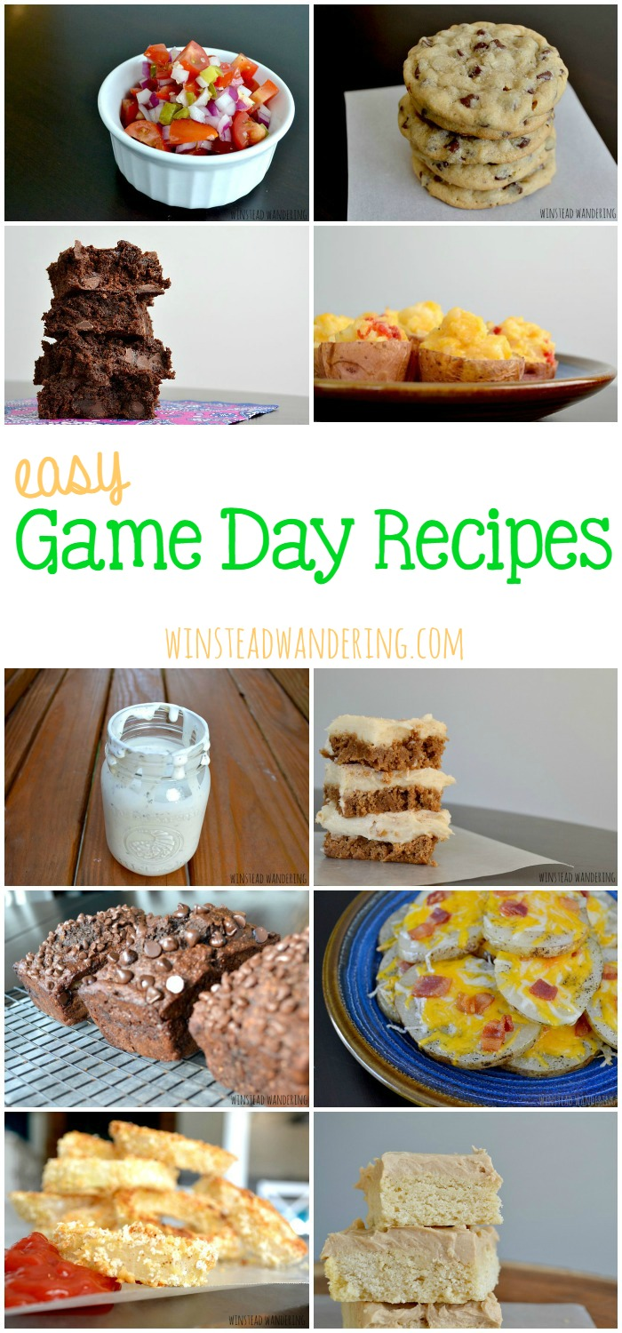These easy game day recipes are diverse enough to please any palate, but they all have on thing in common: they're quick and simple to prepare.