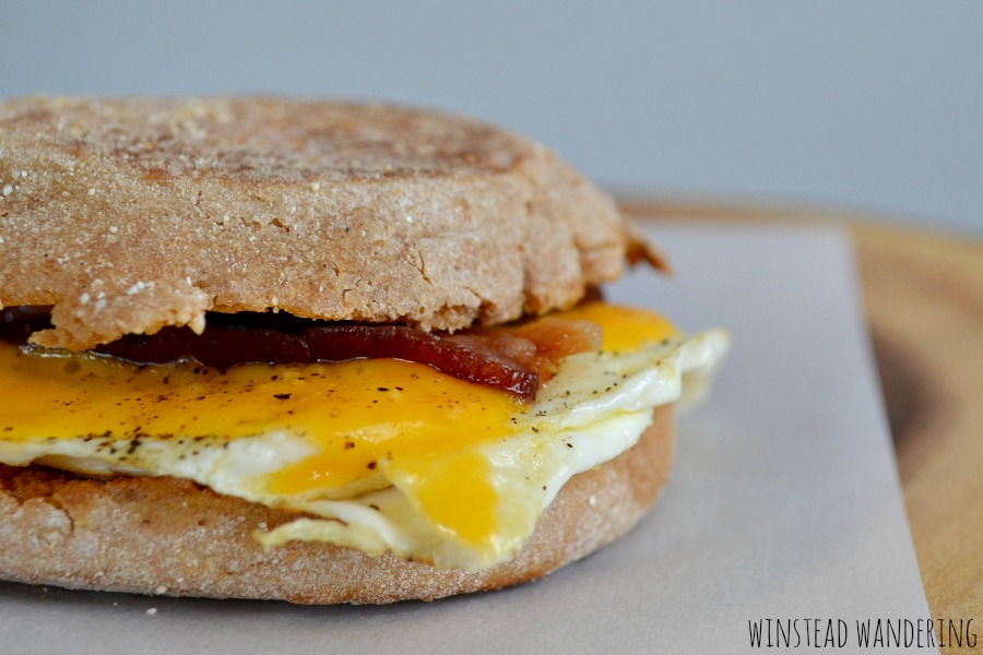 Breakfast isn't just for morning anymore. These bacon, egg, and cheese breakfast sandwiches are easy and filling enough to be enjoyed for any meal of the day.