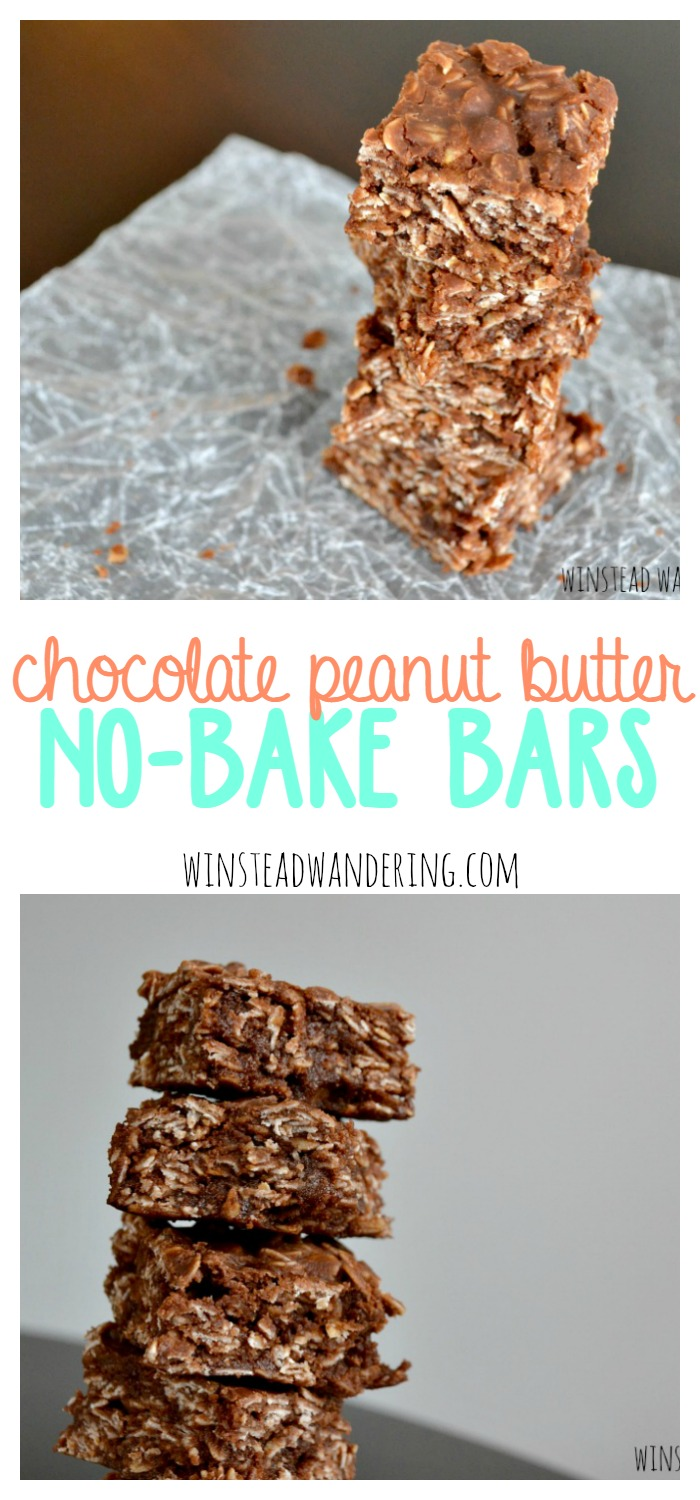 Chocolate peanut butter no-bake bars combine the mouthwatering richness of the classic cookies with the ease of making bars.