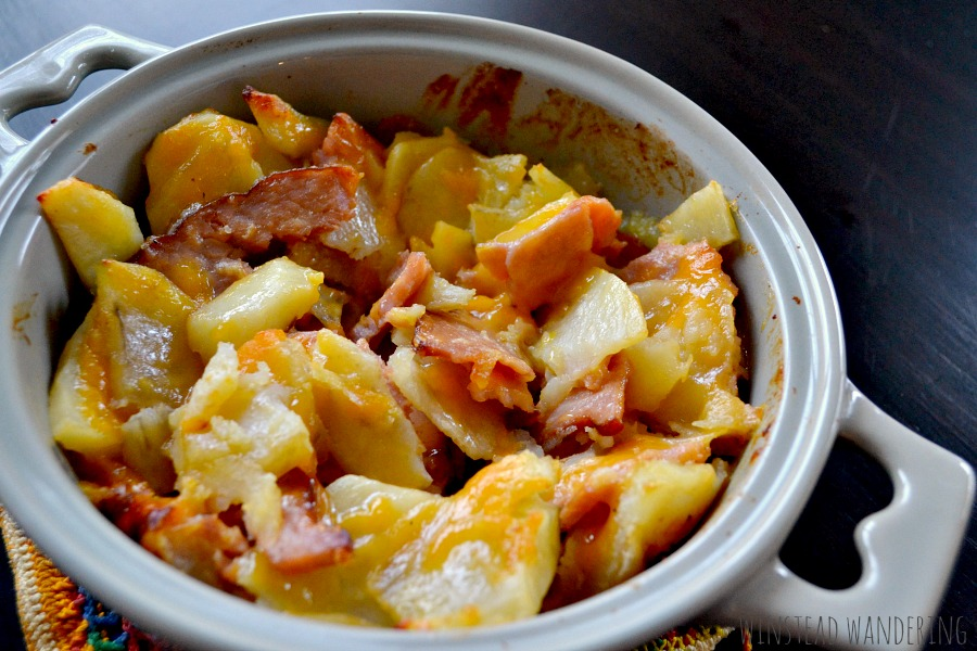 With just three ingredients, Ann's ham and potatoes is a filling, crowd-pleasing, comforting meal that tastes like it took twice as long to make.
