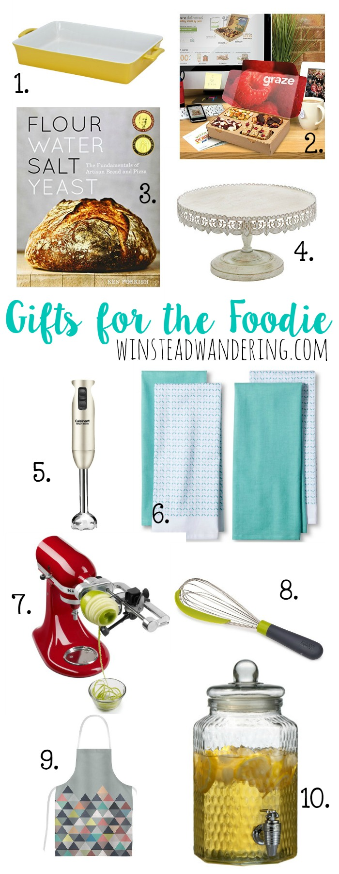 Gifts For the Foodie: the best gift inspiration for the person in your life who loves to cook, bake, and feed family and friends.