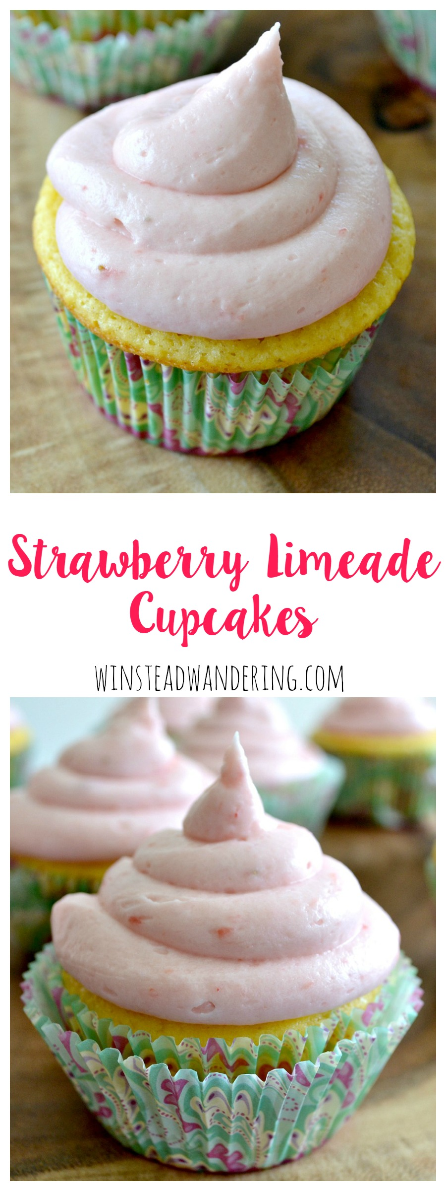 The perfect balance of tart and sweet, these strawberry limeade cupcakes are a refreshing treat for just about any occasion.