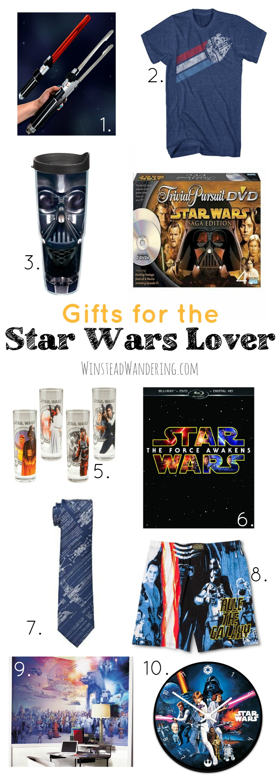 He's hard to shop for, and all the options out there can be overwhelming. Take the guess work out of gift-giving with this guide to gifts for the Star Wars lover.