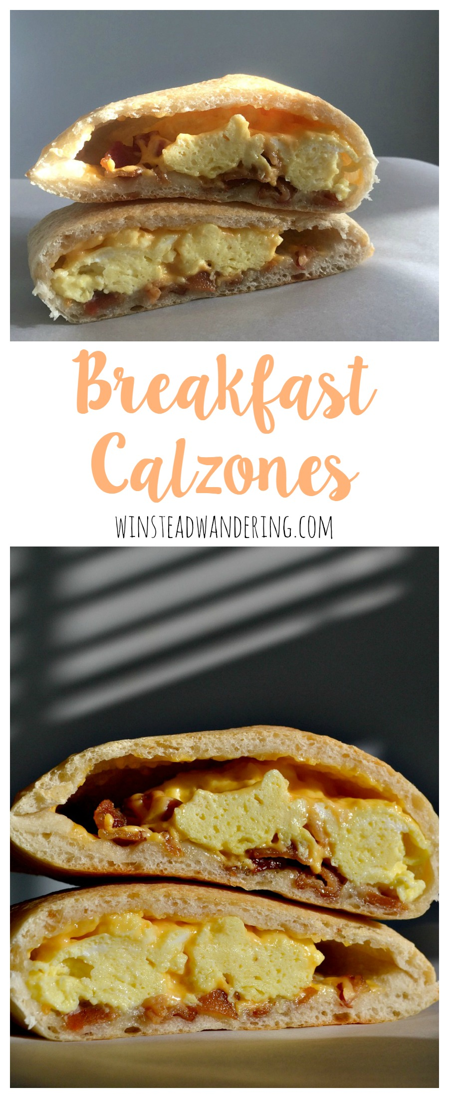 With store bought dough and a few classic breakfast staples, you can whip up a batch of easy, satisfying, portable breakfast calzones.