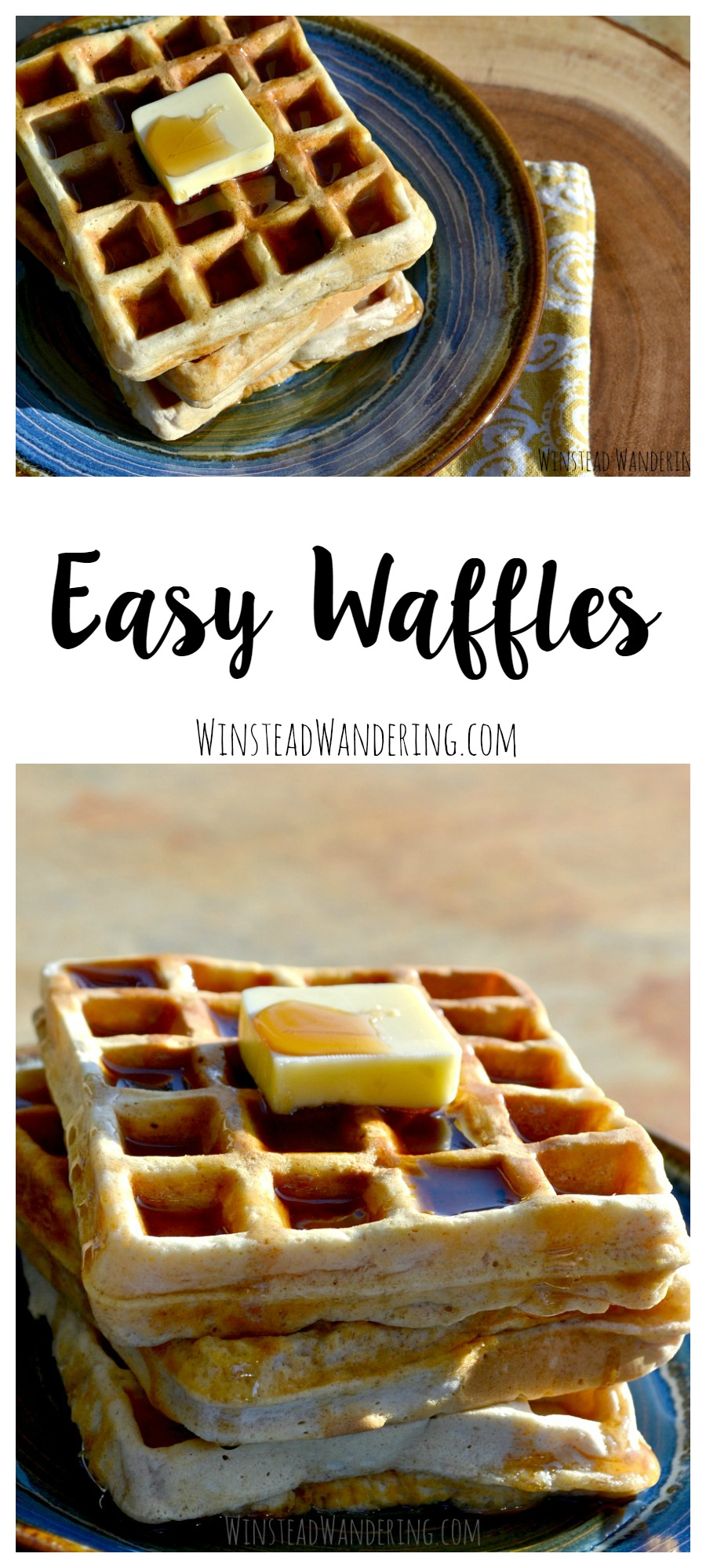 No obscure ingredients here- just a simple recipe for easy waffles that are fluffy, flavorful, and ready in a snap.