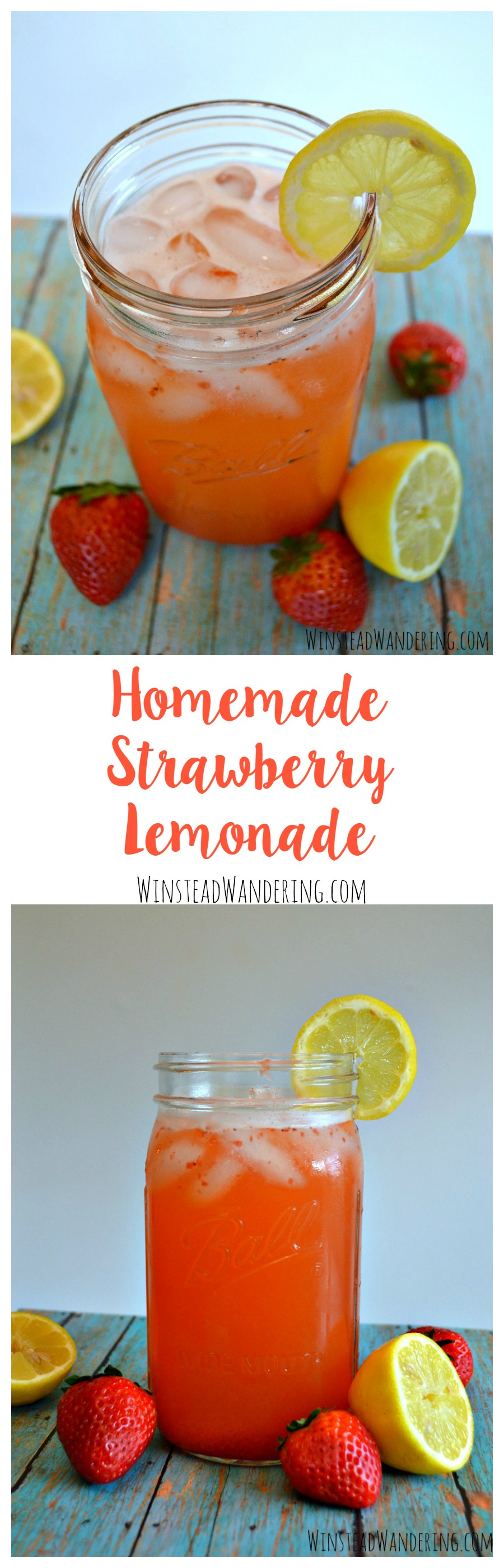 You don't have to head to your favorite restaurant to get an over-priced glass of this stuff. You can whip up a sweet, refreshing glass of homemade strawberry lemonade at home.