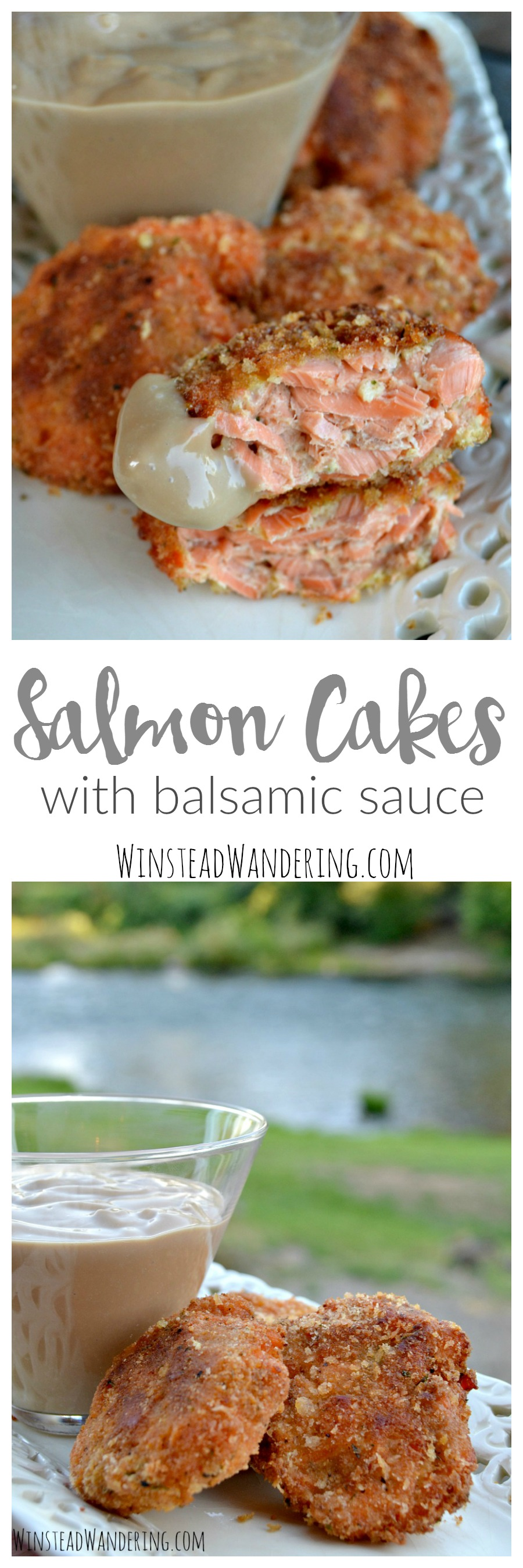 This easy and delectable recipe combines fresh fish with a few simple ingredients to make salmon cakes with balsamic sauce.