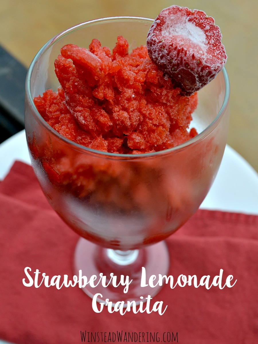 strawberry lemonade granita3
