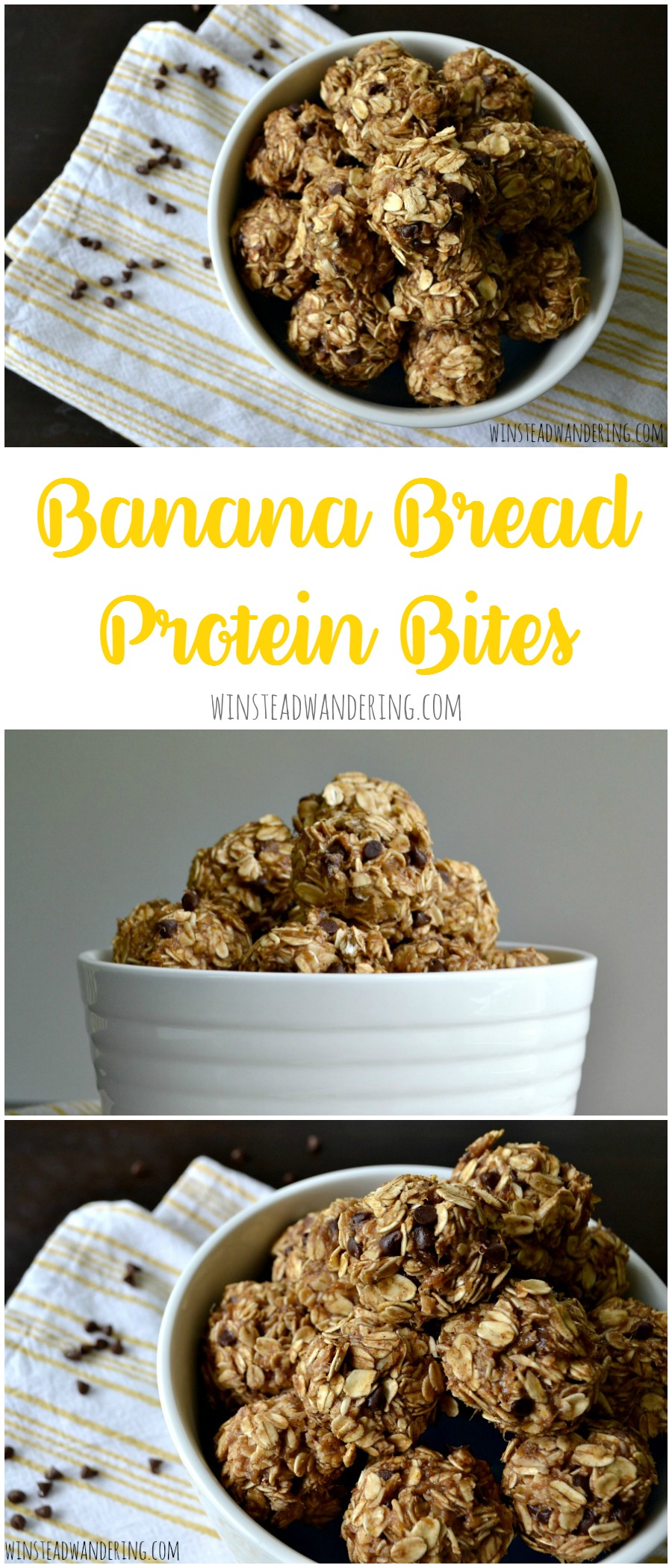 Banana bread protein bites are full of big banana flavor and filling protein. No gluten, dairy, or added sugar here!