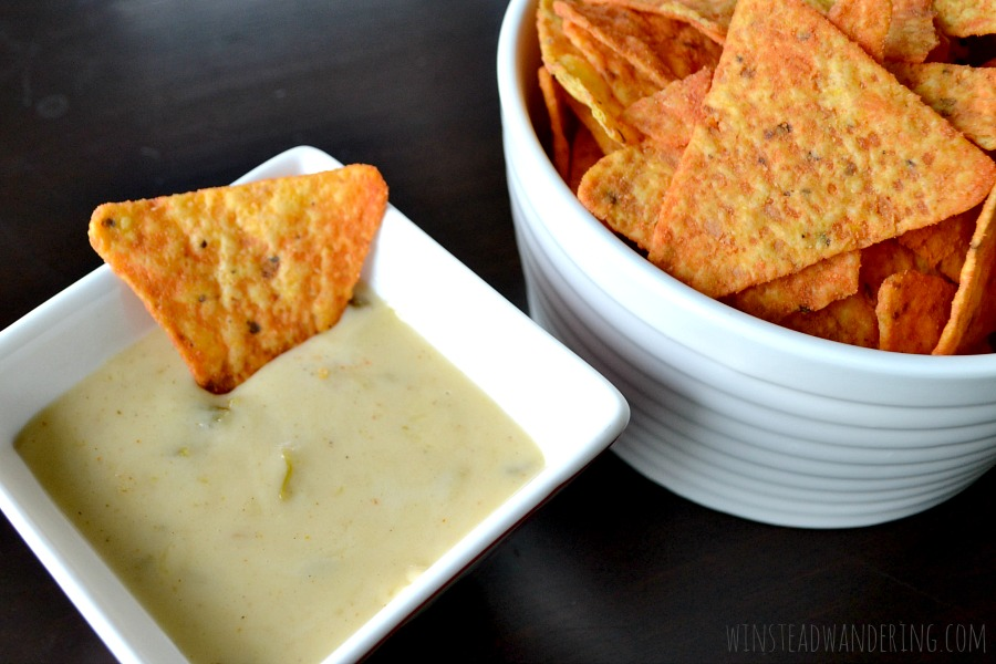 It isn't game day without a big bowl of this quick and easy, perfectly spicy, melted cheese goodness known as green chile white queso dip.
