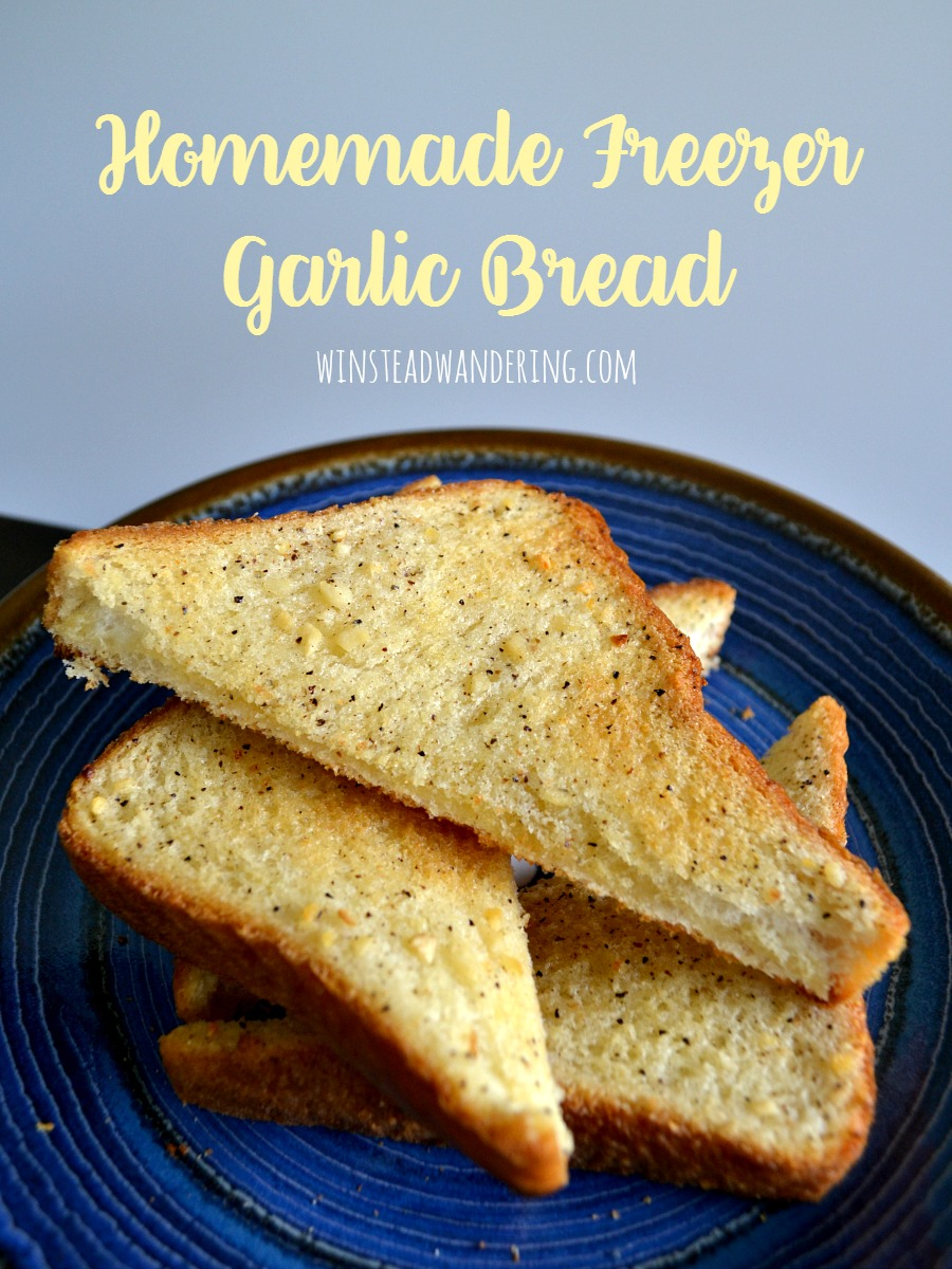 Don't waste your money on the processed store-bought stuff. It only takes ten minutes and five ingredients to make your own homemade freezer garlic bread.