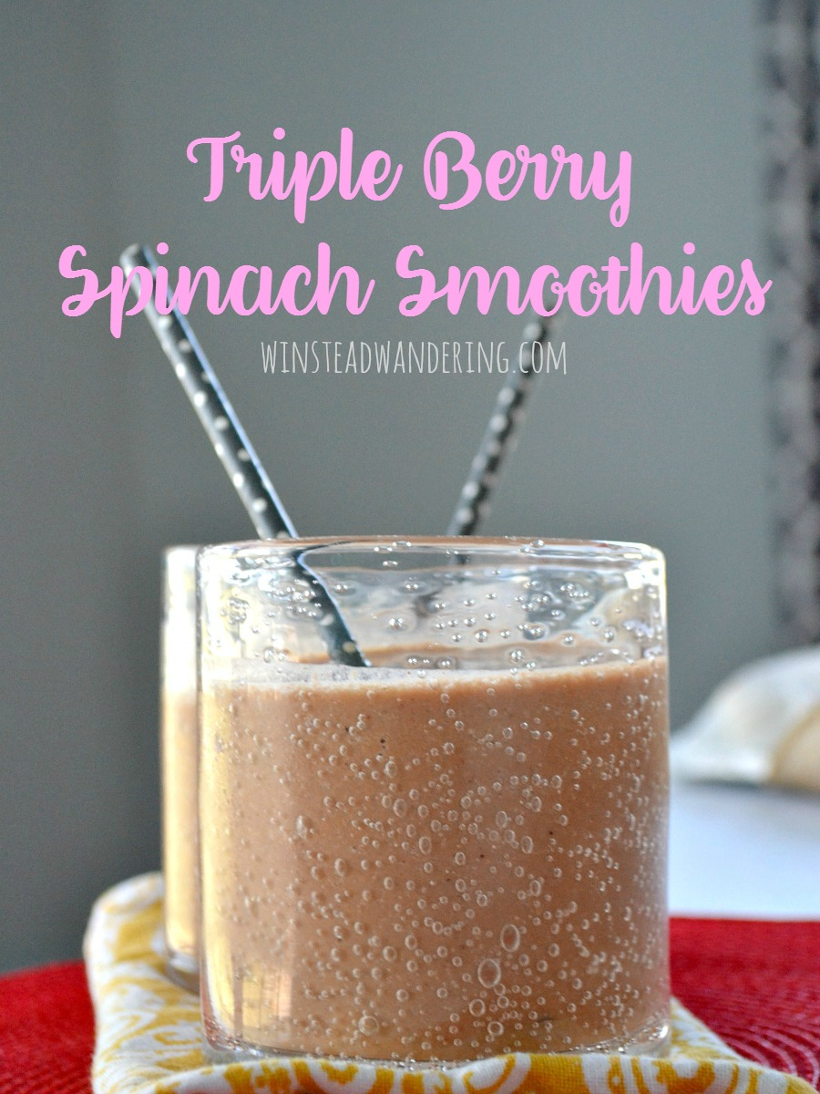 Triple berry spinach smoothies are the perfect deceptively-nutritious, surprisingly-delicious way to make your mornings easier.