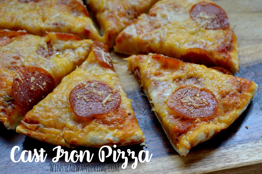 You can make crispy, melty perfectly delicious homemade cast iron pizza in less time than it takes the delivery man to show up.
