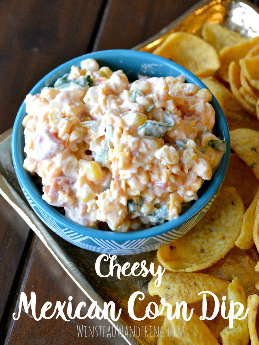 Packed with creamy flavor, this cheesy Mexican corn dip is the perfect easy appetizer for your next party, and it's perfect for enjoying on game day.