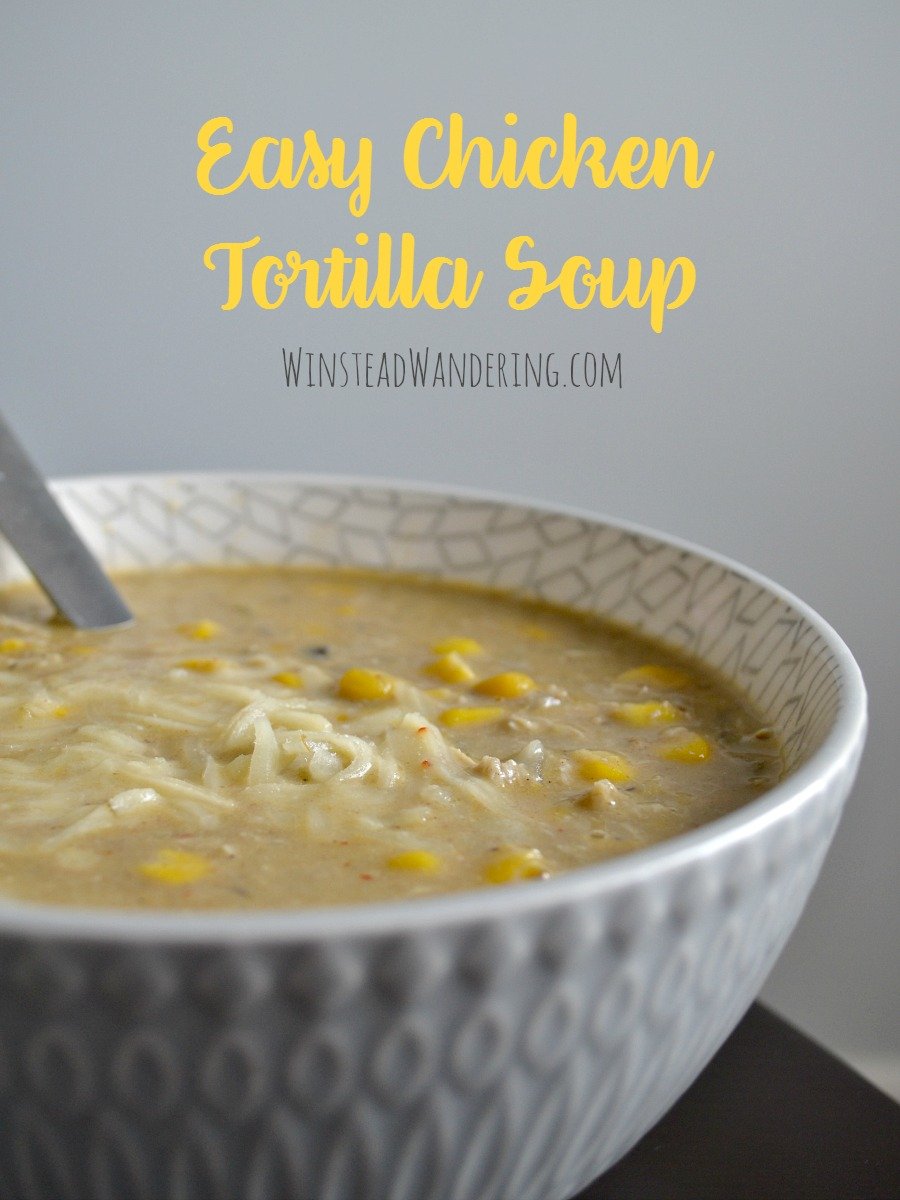 This easy chicken tortilla soup is packed with flavor and, even though it comes together in less than half an hour, it tastes like it simmered all day long.