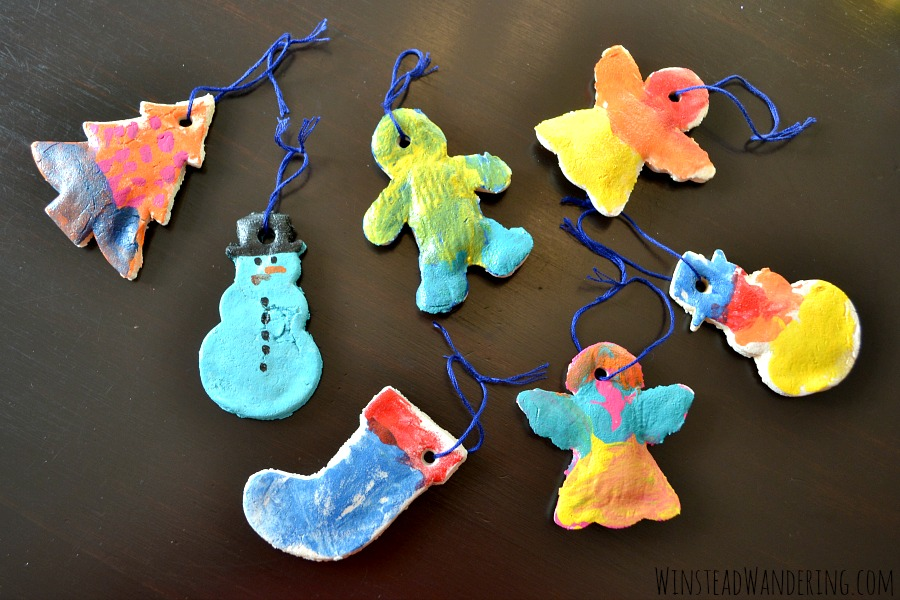 Homemade salt dough ornaments couldn't be simpler to make. With only three ingredients, they're the perfect easy craft for kids of all ages.