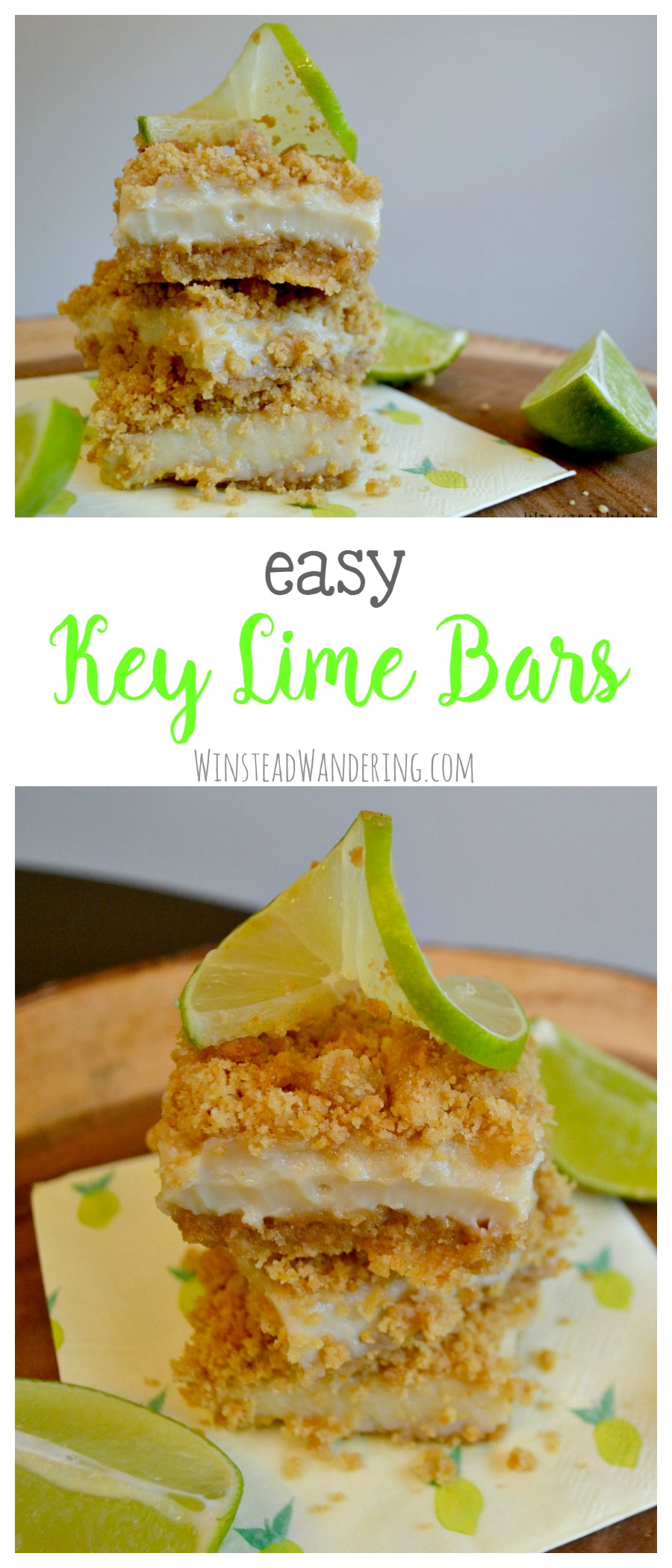 With an easy graham cracker crust and a creamy three-ingredient filling, easy key lime bars are rich, sweet, and perfectly tart.