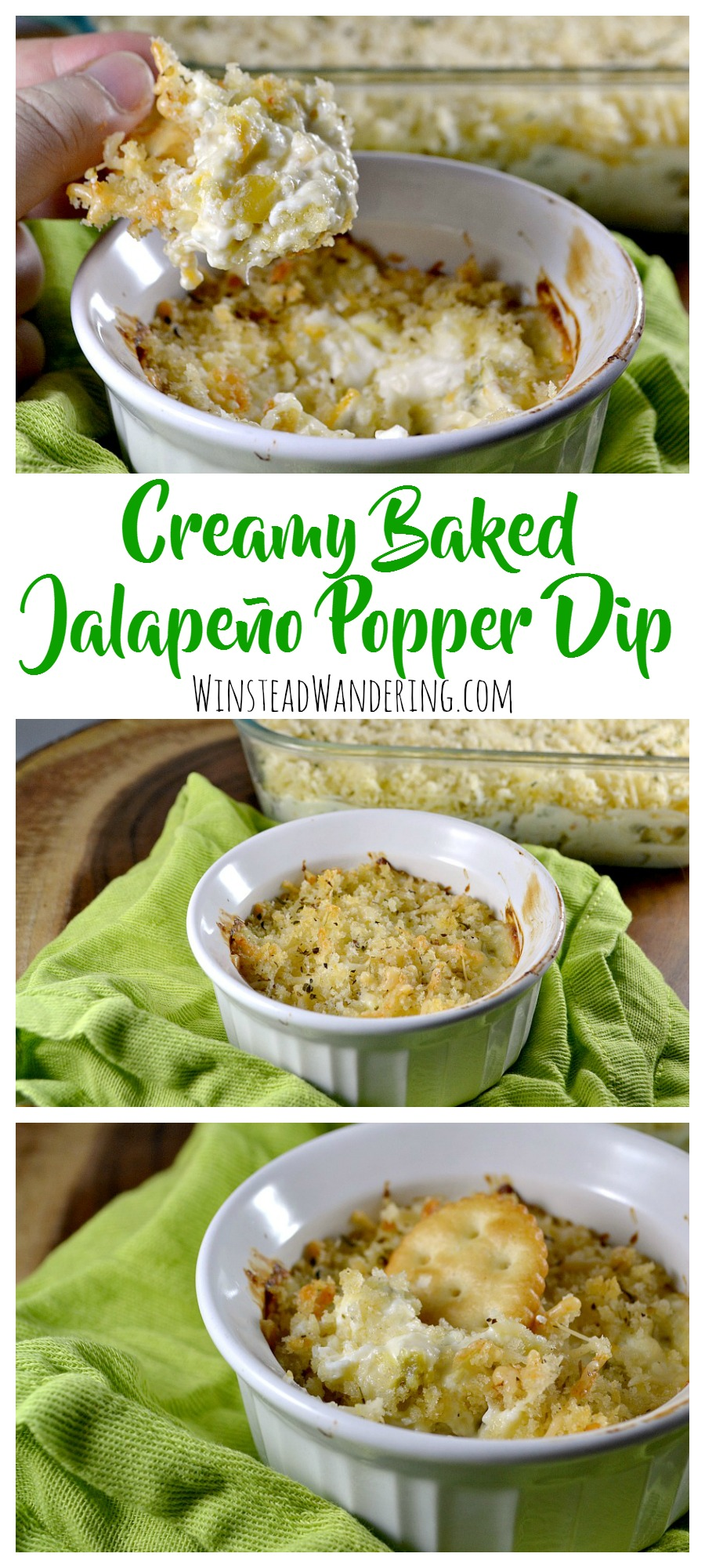 Warm, cheesy, melty, and perfectly spicy, Creamy Baked Jalapeño Popper Dip is the perfect easy, crowd-pleasing, make-ahead recipe for your next party (or regular Friday night).