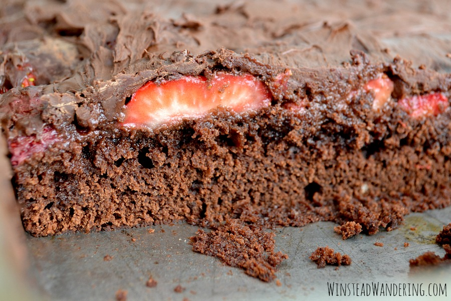 What happens when you combine two of the richest, most decadent desserts? You get Chocolate-Covered Strawberry Brownies.