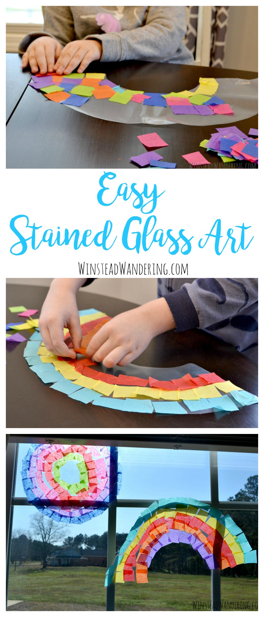 With just two inexpensive supplies and a few minutes of time, you and your toddler can create this easy stained glass art.