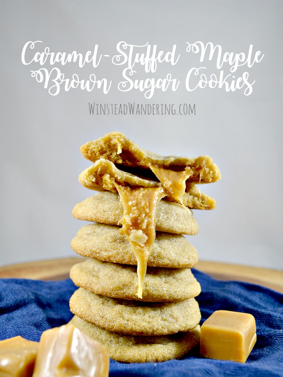 One bowl, no mixer, and a perfectly sweet and chewy dessert: Caramel-Stuffed Maple Brown Sugar Cookies are indescribably decadent.