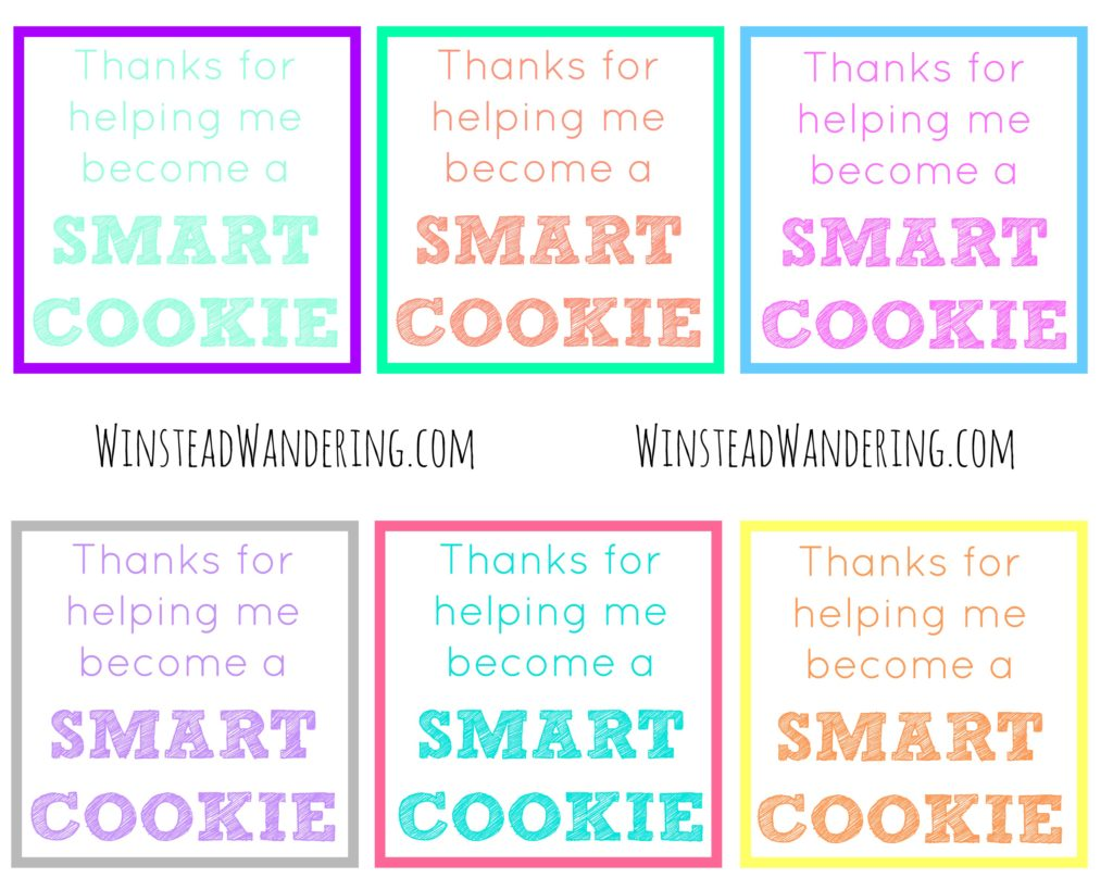photo relating to Cookie Printable named Due for supporting me come to be a clever cookie\