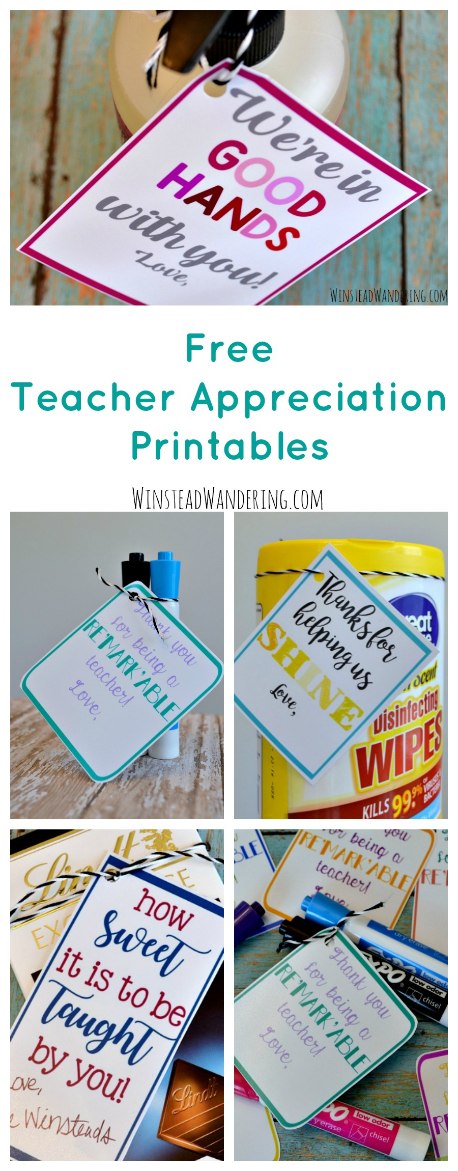 These adorable printables are perfect for showing teacher appreciation any time of year. There are a ton of cute gift ideas, too!