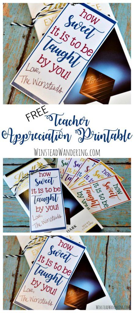 free teacher appreciation printable inexpensive gift ideas