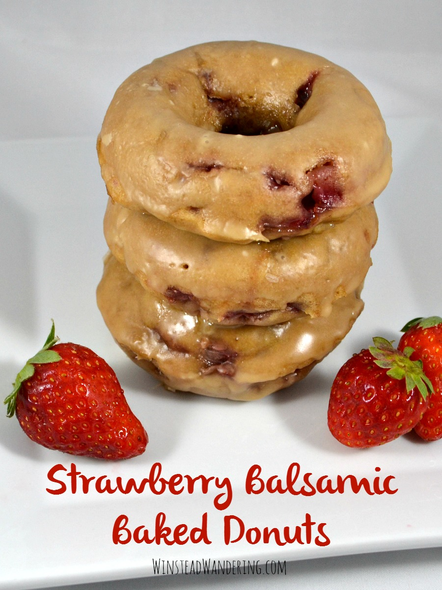 Looking for a new favorite summer treat? Strawberry Balsamic Baked Donuts with Balsamic Glaze are light, easy, and a perfect balance of savory and sweet.