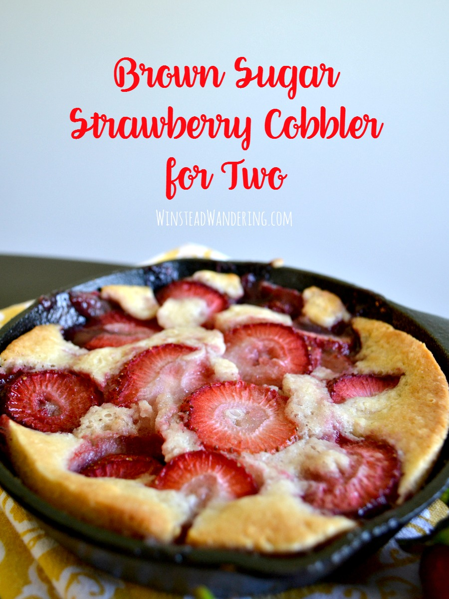 With rich brown sugar, gorgeous berries, and a delightfully crispy crust, Brown Sugar Strawberry Cobbler for Two is the perfect treat for sharing... or not!
