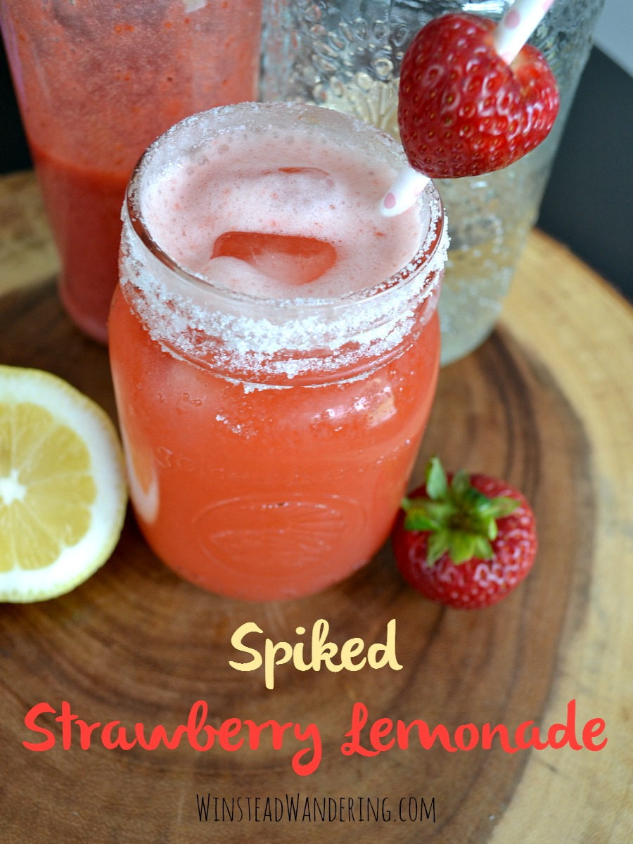 With from-scratch strawberry sauce, homemade lemonade, and the liquor of your choice, Spiked Strawberry Lemonade is the perfect drink to cool down with this summer.